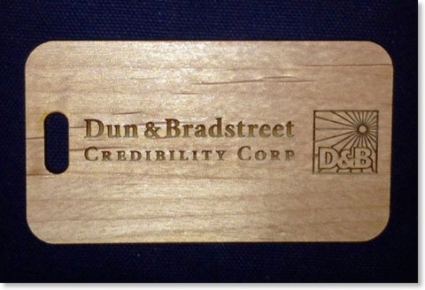 Custom Wooden Luggage Tags for Dun & Bradstreet – YourBagTag