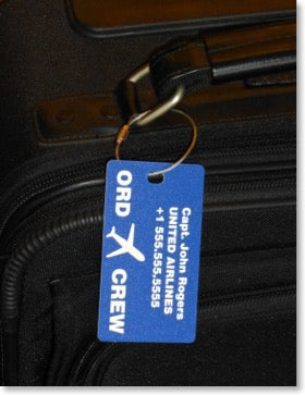 Personalized Flight Crew Luggage Tags