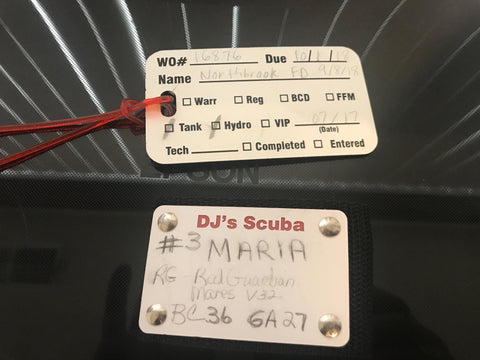 Custom Scuba maintenance tag from YourBagTag