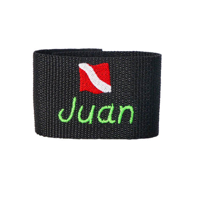 Personalized Embroidered Scuba Themed BCD Name Tag