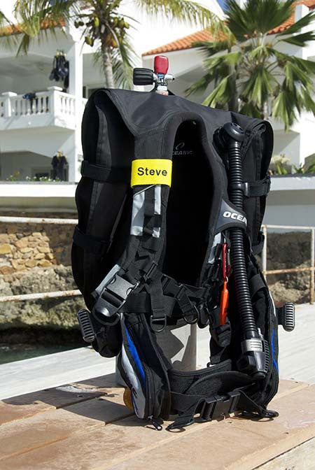 Yellow Custom Scuba BCD Name Tag