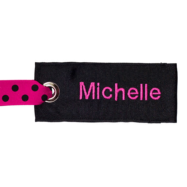 Black-Pink Custom Luggage Tag from YourBagTag
