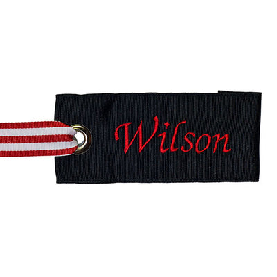 Black-Red Custom Luggage Tag from YourBagTag