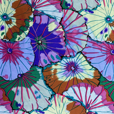 Face mask fabric pattern lotus garden flowers