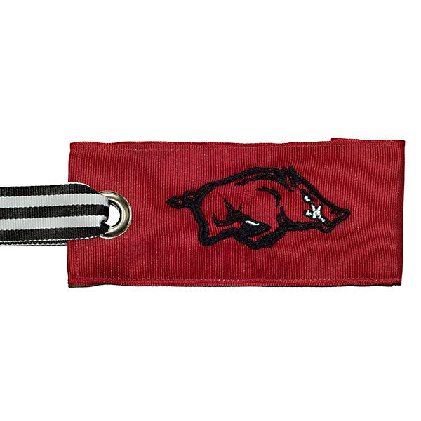 University of Arkansas Razorback bag tag - college red
