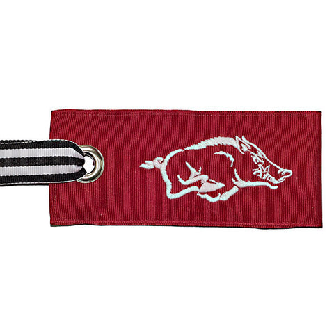 University of Arkansas Razorback luggage tag - college red