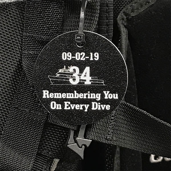 MV Conception Memorial Scuba Tag