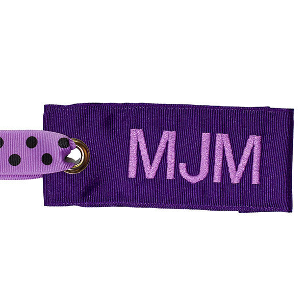 Purple Polka Dot Luggage Tag from YourBagTag