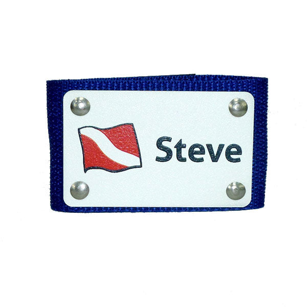 Dive Flag Full Color BC Name Tag - yourbagtag.com