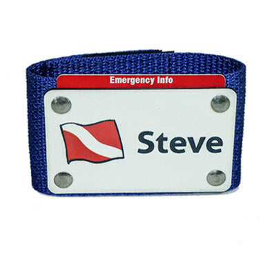 Scuba BC Name Tag with Emergency Contact Details