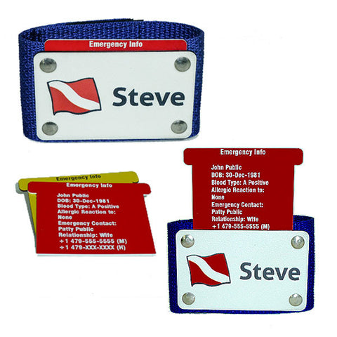 Emergency Contact Info Scuba BC Name Tag