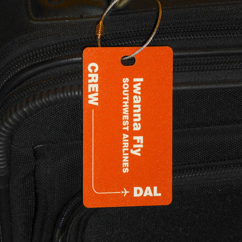 Flight Crew Luggage Tag with Personalized Text