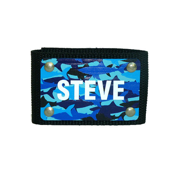 full color scuba bc name ID tag Shark Camo