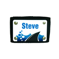 Full Color Scuba BCD Name Tag - Black-with blue