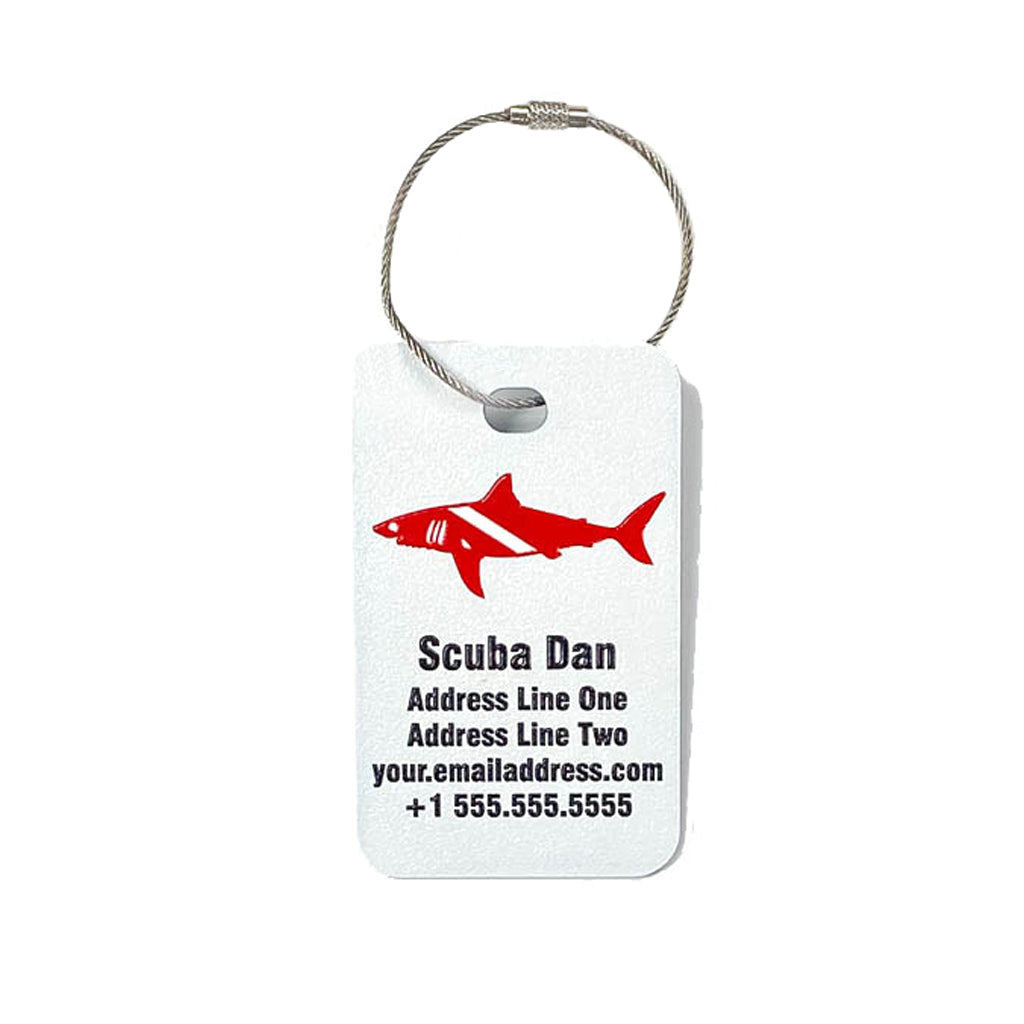 Scuba Gear Bag Tag - Full Color