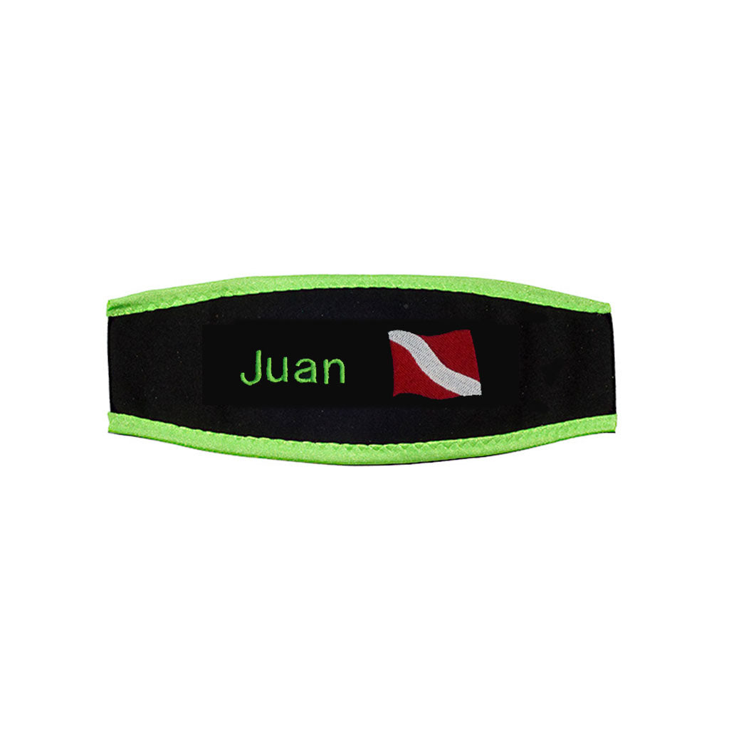 Scuba Mask Strap Cover - Dive Flag