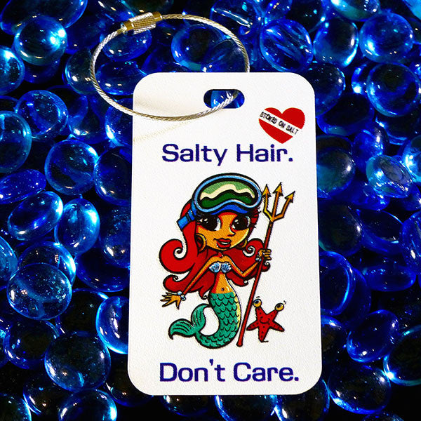 Mermaid Luggage Tag Full Color Stoked on Salt
