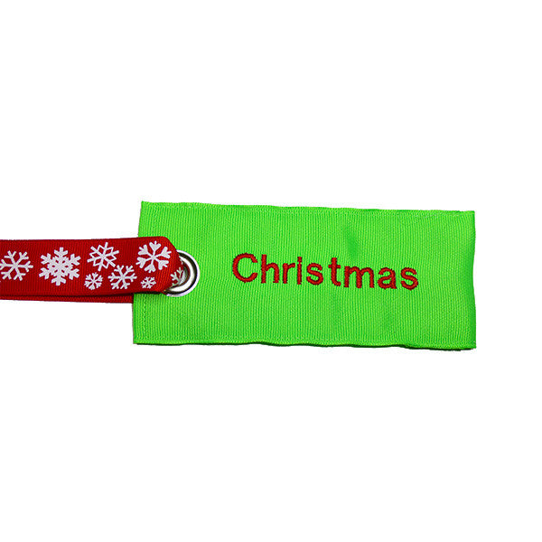Holiday Christmas Luggage Tag w/Snowflake Handle