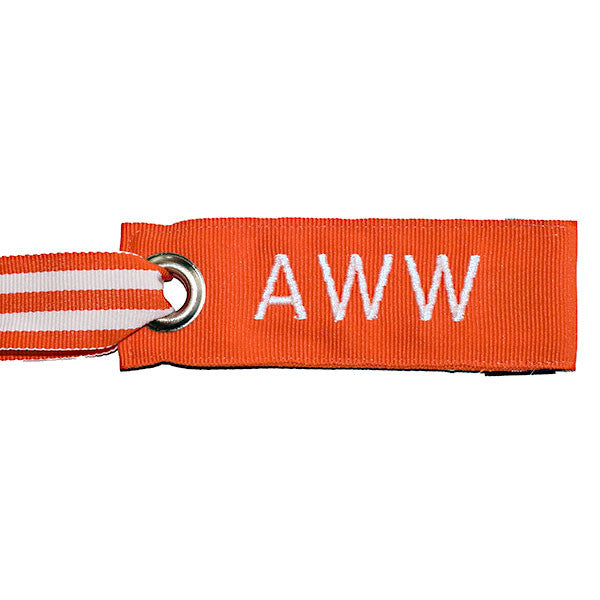 Mini Orange Luggage Tag