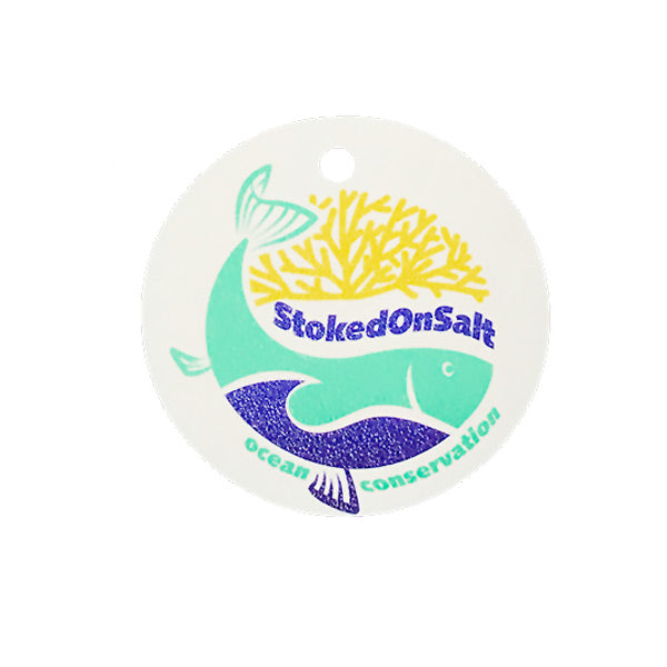 Color Stoked on Salt Ocean Conservation tag - fish - coral