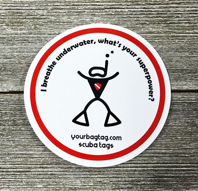 Scuba Superpower Sticker
