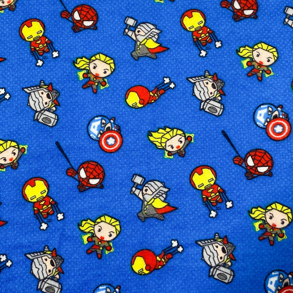 Fabric Mask Superhero Pattern