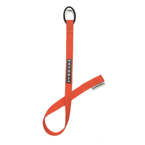 Laser Name Plate Orange YourZipTag wetsuit zipper pull