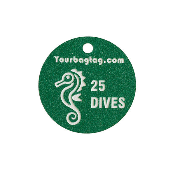 Scuba Experience Tag - Green - Seahorse - YourBagTag