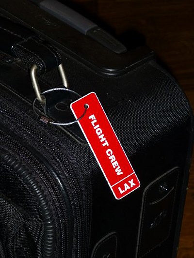 Custom Flight Crew Luggage Tag w/Airport Code