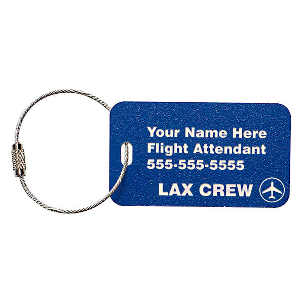 Personalized Carry On Bag Tag for Flight Crew