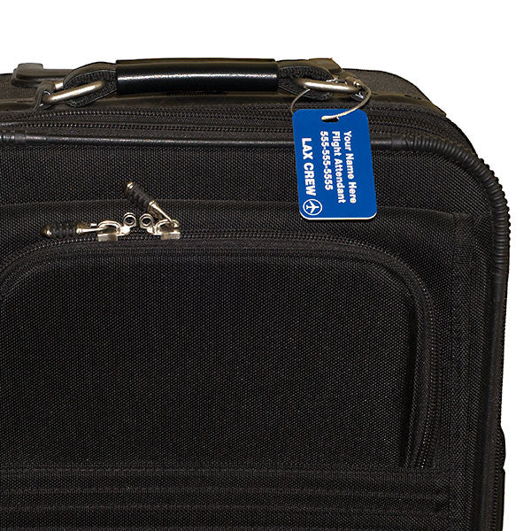 Custom Carry On Sized Luggage Tag for Flight Crew