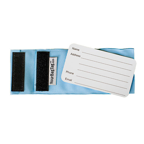 YourBagTag Light Blue Luggage Bag Tag Back with insert
