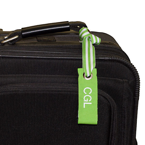 Mini Neon Green Luggage Tag