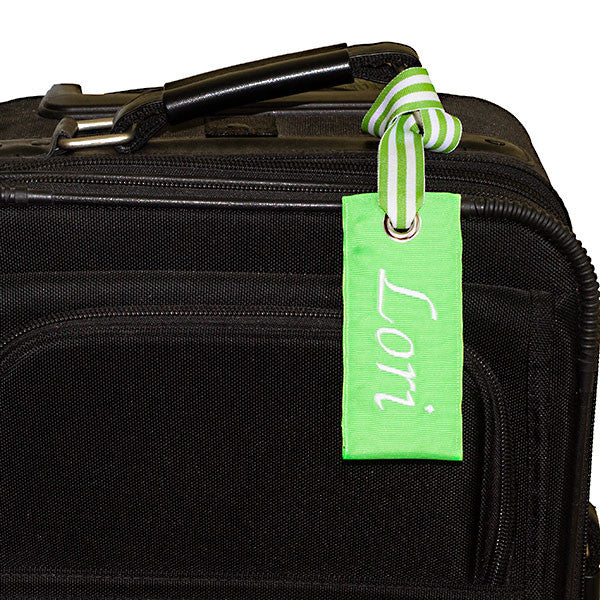 Neon Green Luggage Tag