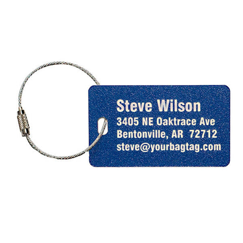 Carry On Size Personalized Luggage Tag