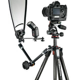 "Manfrotto MT055CXPRO3 Carbon Fiber 3 Sections Tripod with Horizontal Column, 19.84lbs Load Capacity, 66.93"" Maximum Height"