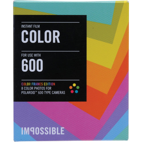 Impossible Instant Color Film with Color Frames for Polaroid 600-Type Cameras