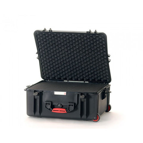 HPRC 2700CW Wheeled Hard Case With Cubed Foam Interior (BLACK)