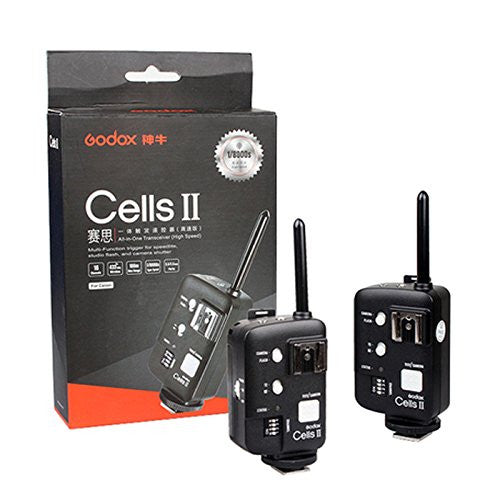 Godox Wireless Canon Ettl Trigger Cells Canon Trigger Set 16 Chanel All-in-one 433Mhz 1/8000 sync speed for Flash Speedlite TT850 TT520/560 Studio Strobe Ad360 Smart monoligt De300