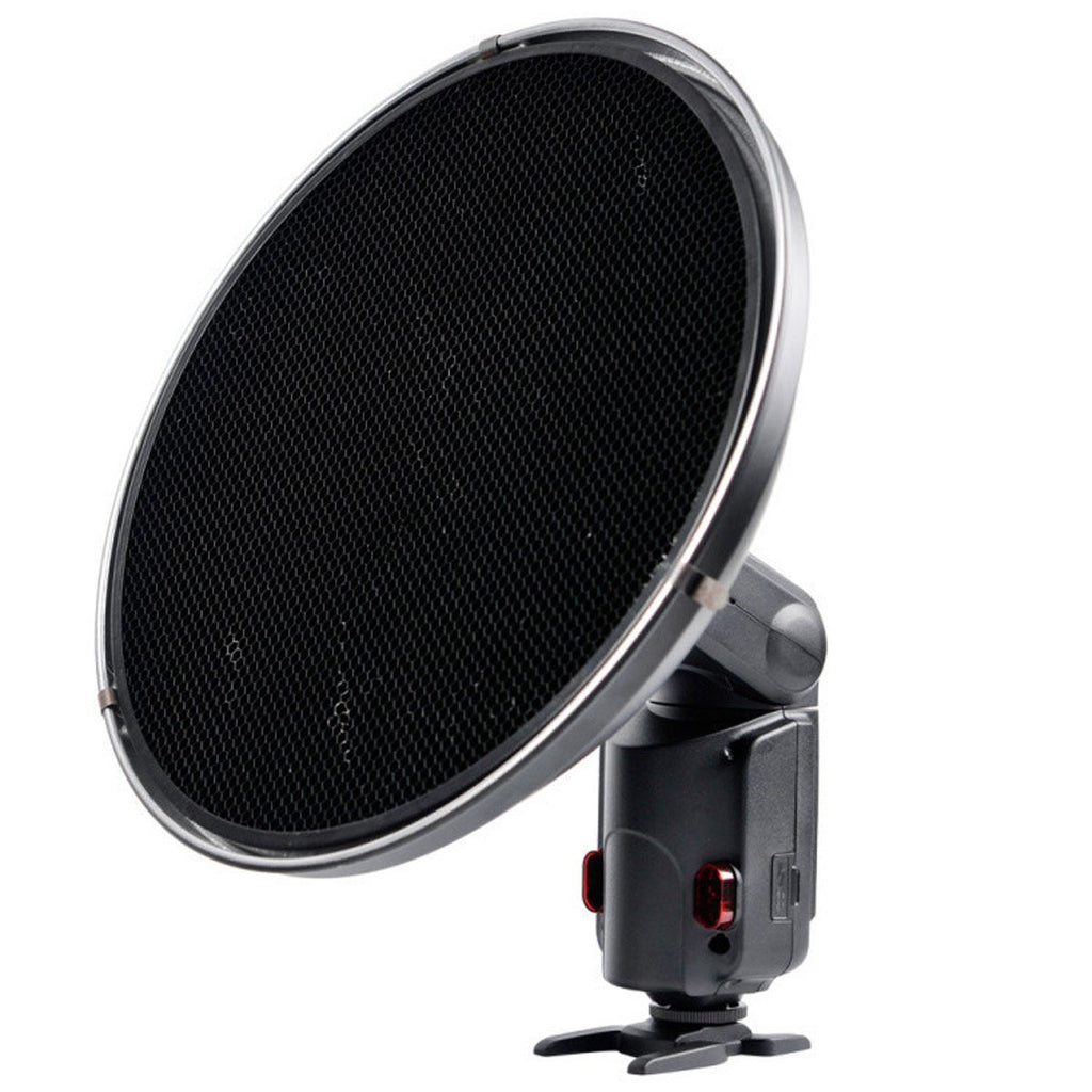 Godox Silver Beauty Dish AD-S3 with Grid AD-S4 for WITSTRO Speedlite Flash AD180 AD360