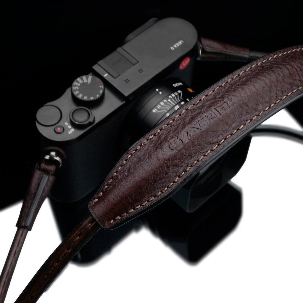 Gariz XS-CSNLBR Large Size 115cm Genuine Leather Camera Neck Strap for Mirrorless Cameras Brown