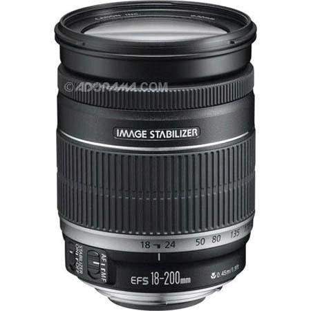 Canon EF-S 18mm-200mm f/3.5-5.6 IS Auto Focus Lens