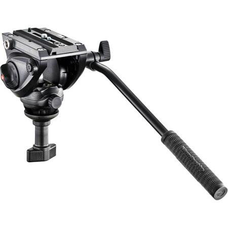 Manfrotto MVH500A Professional Fluid Video Head, 60mm Half Ball, 5kg / 11.02 lbs Payload