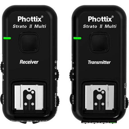 Phottix Strato II Multi 5-in-1 Trigger Set for Canon C6, 2.4GHz Frequency