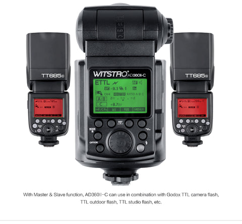 AD360II-C WITSRO TTL Powerful & Portable Flash - CANON