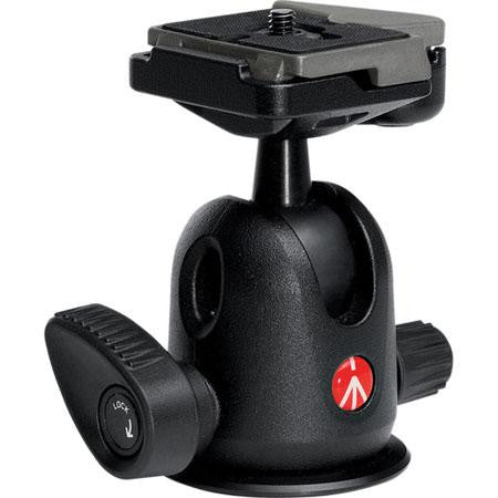 Manfrotto 496RC2 Compact Ball Head 496 with RC2 Rapid Connect Plate, Maximum Load: 13.2 lbs/ 6 kg