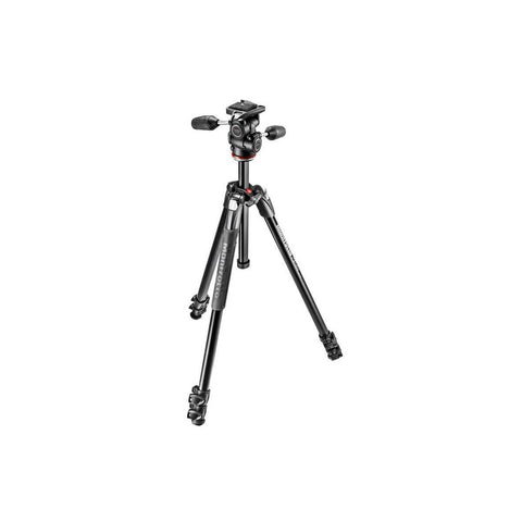 Manfrotto 290 Xtra Aluminium 3-Section Tripod With Head (MK290XTA3-3W)