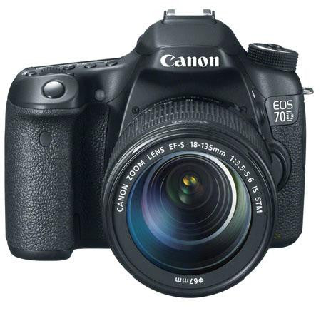 Canon EOS 70D Digital SLR Camera Body Kit, with EF-S 18-135mm F3.5-5.6 IS STM Lens, Black