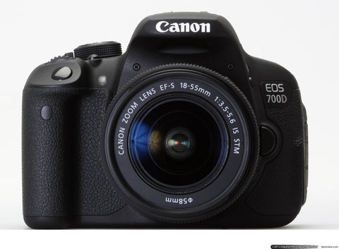 Canon EOS 700D with 18-55mm lens kit