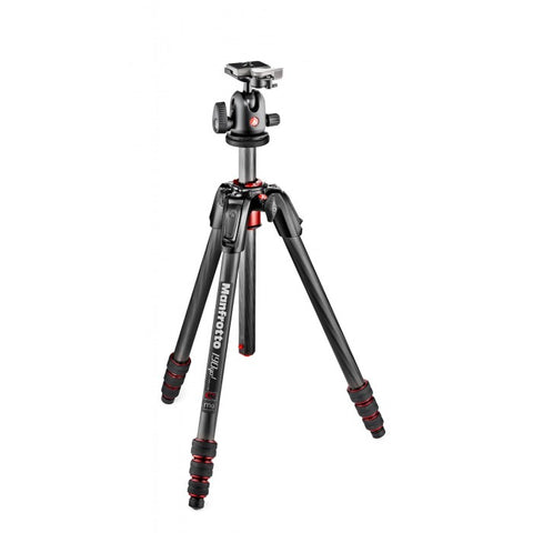 Manfrotto 190 Go! Kit CF Black 4 Sec W/ Twist Locks & Ball Head (MK190GOC4TB-BH)